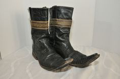 Botas el Travieso Cowboy Boots Chihuahua Mexico Black SnakeSkin Mens Size 8.5 EE #BotaselTravieso #CowboyWestern