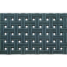 WEAVE GRAY --- Solid neutral colors to compliment any décor, these heavy weight molded rubber mats provide an amazing scraping surface that repels water for great traction in all weather. The unique Chroma Grit surface reflects light for a sparkling effect.