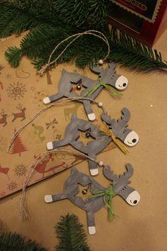 Новогодний декор, новогодние украшения, ёлочные украшения, деревянные игрушки, лоси