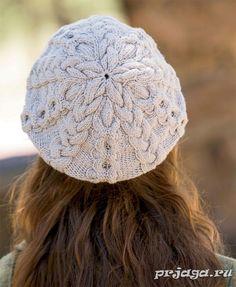 Женская шапка и берет спицами или крючком