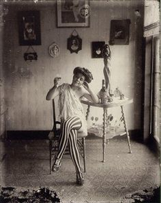 In the early 20th century, photographer E. J. Bellocq became known for his portraits of prostitutes of Storyville, which was the Red Light District of New Orleans from 1897 through 1917.