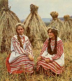 Belarusian folk costume,   harvest ceremony