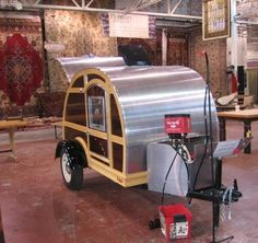 Black Dog Salvage - Architectural Antiques & Custom Designs: Silver Tears Campers - Tear Drop Campers