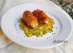 Rollitos de lomo con salsa de zanahoria y calabacín al curry | Cocinar en casa es facilisimo.com