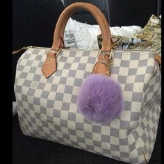 lavender fur ball with gold key chain brand new✨ lavender fur ball with gold key chain✨also available in hot pink,pale pink,grey and white trending please use the offer button  accepting all reasonable offer ✨ 25% off on bundles✨ buy more save more ✌️ Accessories