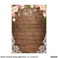 Shop Rustic Country String Lights Floral Lace Wedding Invitation created by CardHunter. Lilac Wedding, Wedding Colors, Wedding Bouquets, Wedding Flowers, Dream Wedding, Lace Wedding Invitations, Wedding Cards, Event Invitations, Wedding Invitation Templates