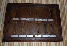 Keys found inside the Servant's Quarters inside The Haunted Mansion #disney #imagineering  http://disneyshawn.blogspot.co.uk