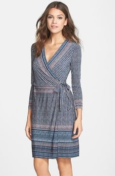 BCBGMAXAZRIA+'Adele'+Print+Wrap+Dress+available+at+#Nordstrom