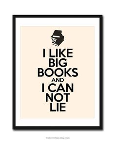 I Like BIG Books  8x10 inch Print on A4 poster in by theloveshop, $20.00