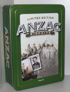 COLLECTABLE ANZAC BISCUIT TIN LIMITED EDITION I Never Knew My Father + letter | eBay