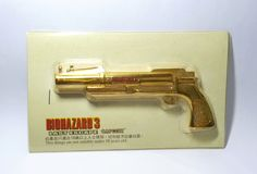 Hong Kong Capcom Comic BIOHAZARD 3 Last Escape Promo Grenade Launcher Gold Metal Toy - Resident Evil