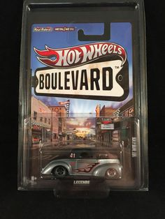 2012 Hot Wheels Boulevard Legends 41 WILLYS Gray Black Real Riders w/ PROTECTO #HotWheels #Willys