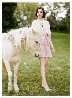 dressed-up pony