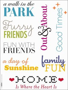 download free page titles for scrapbook pages