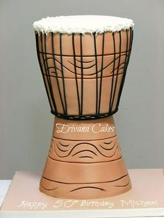 African Drum Cake If we could pull this off... it would be awesome.