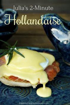 Blender Hollandaise, Recipe For Hollandaise Sauce, Recipes With Enchilada Sauce, Sauce Recipes, Cooking Recipes, Gouda, Breakfast Dishes, Healthy Breakfast Recipes, Florentines Recipe