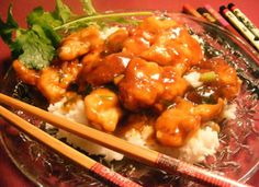 General Tso s Chicken - apparently better than the best Chinese restaurant! Gonna make it to serve with my semi-dry Riesling for girls night in! Think Food, I Love Food, Good Food, Yummy Food, Tasty, Turkey Recipes, Chicken Recipes, Bon Appetit Bien Sur, Frango Chicken