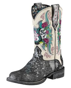 Ariat Rodeobaby Relic Boots.  These boots are AWESOME!