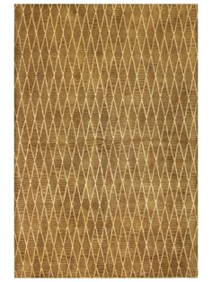 Diamond Net Hand-Tufted Rug from Color Math: Brown + White + Gold on Gilt