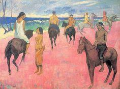 Cavaliers sur la plage (P Gauguin)