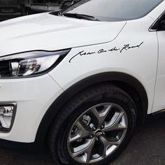 """Detailpart Car Full Name Car Designer Decal Sticker 650 (25.59"""") for KIA SORENTO #Detailpart #Detailkorea #Car #Decal_Sticker #Lettering_Sticke #KIA #SORENTO #Man_On_The_Road"""