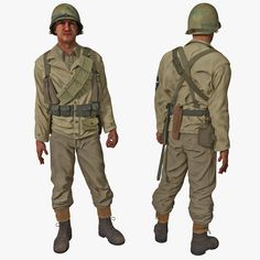3D American Wwii Infantry Soldier - 3D Model