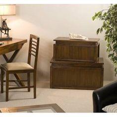 VANIA Lot de 2 coffres en bois Kuala Lumpur, Decoration, Office Desk, Corner Desk, Furniture, Home Decor, Wooden Chest, Drawers, Tiny Office