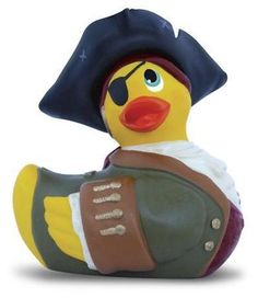 I Rub My Duckie - Pirate is the third release in the Collector's Series and quite the handsome scallywag, dressed in dashing period costume and (removable) captain's hat. The Pirate Duckie features a strong, quiet motor, and unlike most seafaring scoundrels, is waterproof and floats, so he is ready for hours of adventure on the high seas! Beware! The Pirate Duckie is ready to plunder your treasure! Satin-lined Treasure Chest is included for protective and discreet storage. $23.22