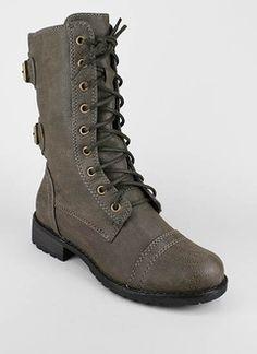mid rise combat boot