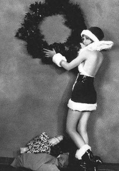 On the ninth day of Christmas…  Awkwardly making nice things naughty.  Skimpy Santa. Loretta Young. 1920s.