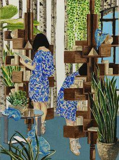 Wonderfully detailed paintings by Japanese artist Naomi Okubo. More images of Okubo's work below!        Naomi Okubo's Website