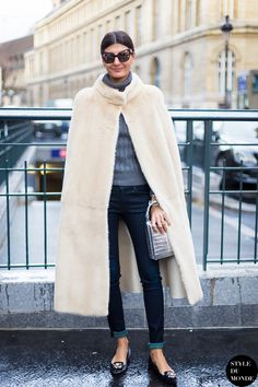 cape with jeans and turtleneck sweater