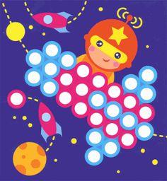 развитие мелкой моторики мозаика Quiet Time Activities, Preschool Activities, Preschool Printables, Preschool Worksheets, Quiet Book Templates, Do A Dot, Dotted Page, Farm Theme, Space Crafts
