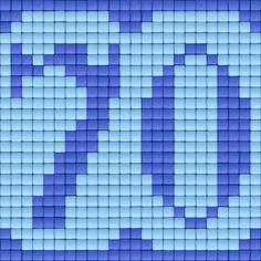 Pixelhobby © All rights reserved  #party #specialday #birthday #verjaardag #pixels #pixelart #pixelen #pixelhobby #70 #zeventig #jaar