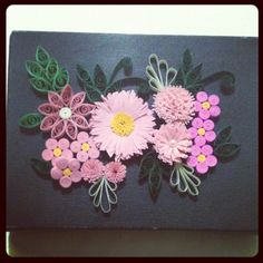 Mini quadro - Quilling - @noemiasouza- #webstagram