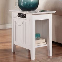 Orangetown Side Table With Charging Station
