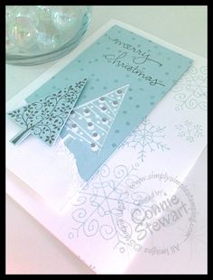 FLASH CARDS by Connie Stewart - Wintertime Christmas Cards - Festivsl of Trees, endless wishes