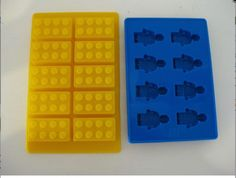 LEGO BRICK MINIFIGURE CANDY CHOCOLATE MOLD ICE TRAY BIRTHDAY PARTY FAVOR SET