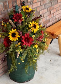 Fall Floral Porch decor