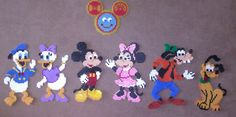 Mickey Mouse Clubhouse Hama Bead Magnet Set by MagneticMommy