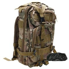 ZTDM Waterproof 20L 3P Tactical Backpack Unisex Bag CP with Eye Mask