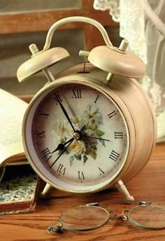 Clock - Alarm - Morning Roses  - $20.00 : Enchanted Cottage Shop, For Gifts Antiques Reproductions Collectables and Home Decor