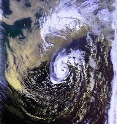 "'The Perfect Storm', 1991 by NOAA, wikimedia.org: Also known as ""The Halloween Nor'easter of 1991"", The ""perfect storm"" moniker was coined b..."