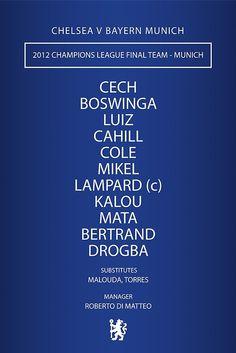 3c1b0154c06a4 Chelsea - 2012 Champions League Final Team