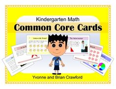 Common Core Task Cards - Kindergarten Math $