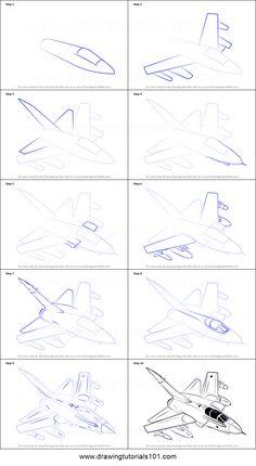 how to draw panavia tornado aircraft rb199 jet printable drawing sheet by drawingtutorials101com