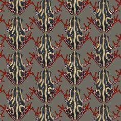 teeny congo tree frog fabric by scrummy on Spoonflower - custom fabric