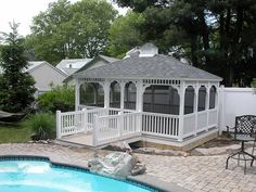 Vinyl Gazebo http://www.backyardunlimited.com/gazebos