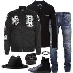 Menswear by fashionkill21 on Polyvore featuring polyvore fashion style Balmain Billionaire Boys Club AllSaints Y-3 Salvatore Ferragamo David Yurman