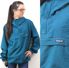 Hey, I found this really awesome Etsy listing at http://www.etsy.com/listing/129314456/vintage-retro-teal-patagonia-rain-jacket